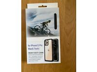 Iphone 12 pro max full-body rugged clear case