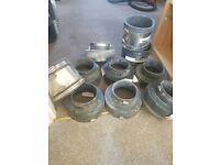 Drainage rubber couplings, never been used, doubles and singles