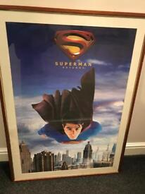 Vintage Superman Framed Poster