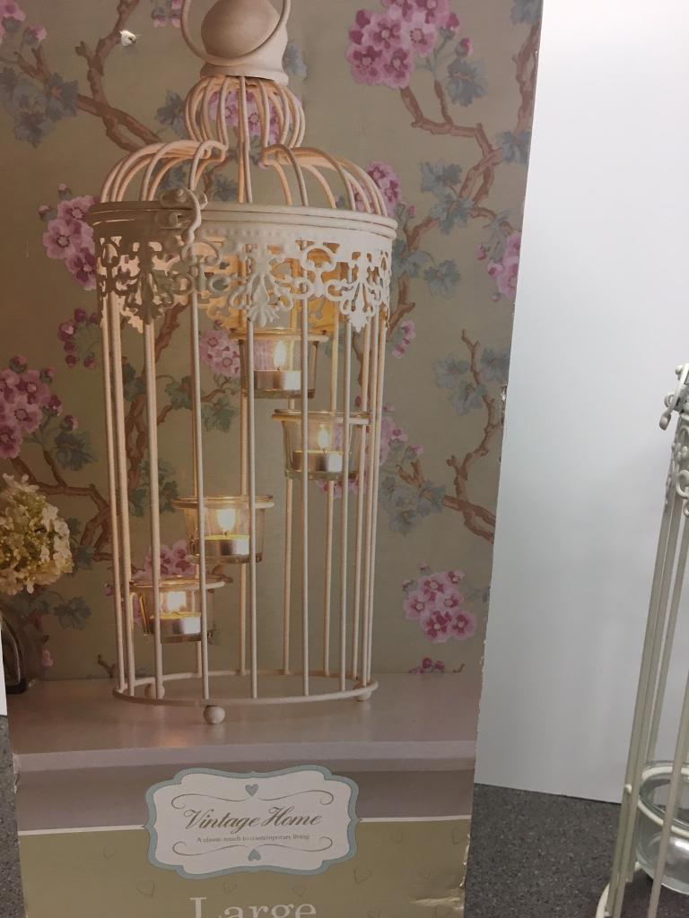 Birdcage tea light holders x 3