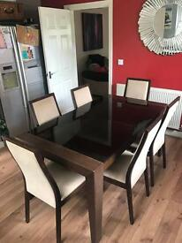 Barker and stonehouse dinning table and 6 chairs