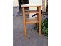 Small pine shelving cabinet