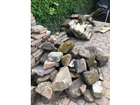 Collection of old stones from garden renovation