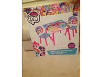 My Little Pony Kids Table & Chairs