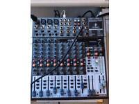 Behringer xenyx x1622 USB mixer with phantom power