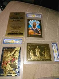 23kt gold plated trading cards