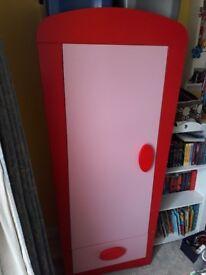 IKEA pink toddler/ girls wardrobe