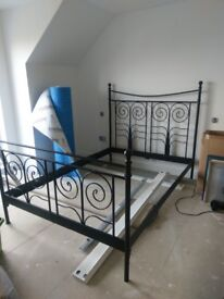 IKEA Noresund Black metal bed frame IKEA double