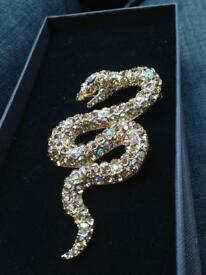 Rare hand crafted snake badge jewellery