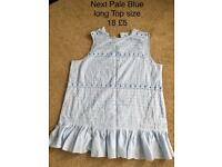 Next Blue Summer Top size 18