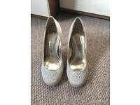 Ivory sparkly shoes