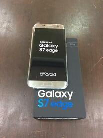 Samsung s7 edge in silver boxed 32 Gb unlocked with Samsung warranty