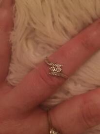 White gold diamond ring...