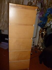 Chest of 5 drawers can arrange local delivery 4 a fee height 123c