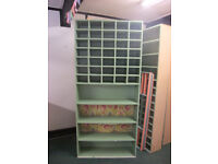 Selection of shop fittings: Counter, Shelves etc