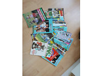 85 football programmes - Some signed
