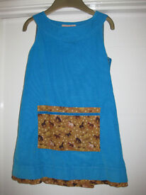 DESIGNER BREAD & JAM DRESS with Rocking Horses age 5-6 - IMMACULATE COND £30+ new still looks new!