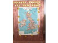 Copper colour spray painted picture frame and board
