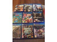 PlayStation 4 games bundle, good condition £50 Ono