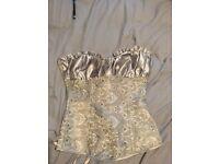 Silver corset top