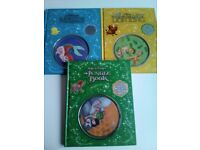 Walt Disney hard back Books with CD