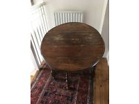 Oak oval gate leg table