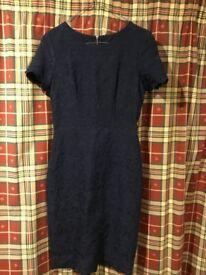 NEXT Navy Dress Lace Pattern Size 6