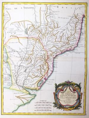 1771 - Original Antique Map of PARAGUAY URUGUAY & BRAZIL AMAZON ARGENTINA
