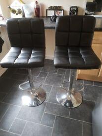 Black bar stools