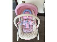 Babies R Us Country Rose Pink Baby Bouncer