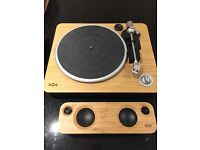 House of Marley stir it up turntable & get together bluetooth speaker
