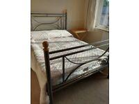 Grey Metal Double Bed