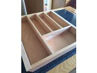 Wooden drawer insert for cutlery..