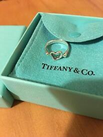 Tiffany & Co Elsa Peretti silver 925 open heart ring