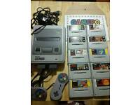 Super Nintendo Snes Supernintendo Console + 10 games