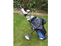 Ryder golf clubs with trolley