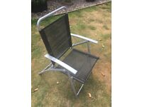5x Garden / Patio / Barbecue Chairs - good condition - fold flat and take up little room