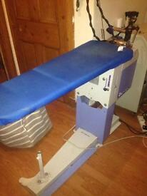 Commercial ironing tables