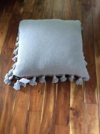 Paoletti large floor cushion grey BNWT