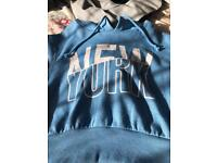 Size 8 cropped New York Hoodie FOR SALE! Only £2