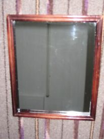 Small Clear Mirror in Dark Wood Frame for £5.00