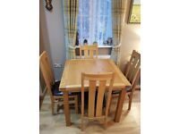Solid Oak Extendable Dining Set