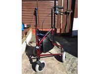 Three wheel walking frame