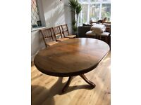 Ducal extendable solid pine dining table