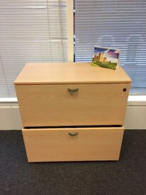 Italian Office Desks, Storage Units all matching Plus Blue Executive Chairs Used