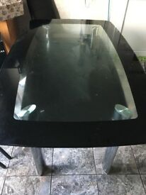 Large glass dinning table , table only no chairs
