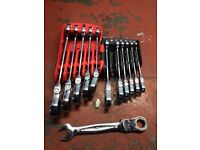 Mac Tools Ratchet spanner's