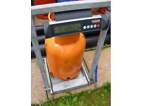 EMPTY INA PROPANE GAS ORANGE BOTTLE DONOR SMALL STOVE PROJECT ? COLLECT NG16 6HA