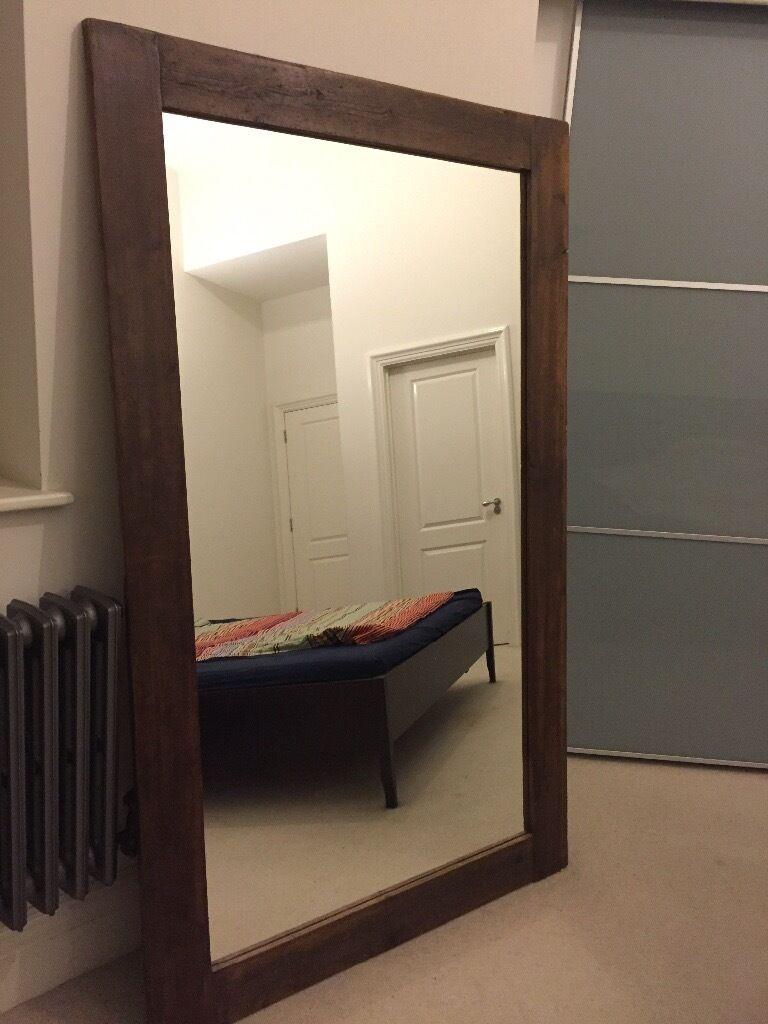 Large solid wood mirror (190cm x 115cm)
