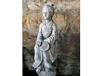 Chinese pagoda, dragon, Buddha, Geisha stone ornaments